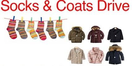 New/Gently Used Coats & SocksOct. 1-25