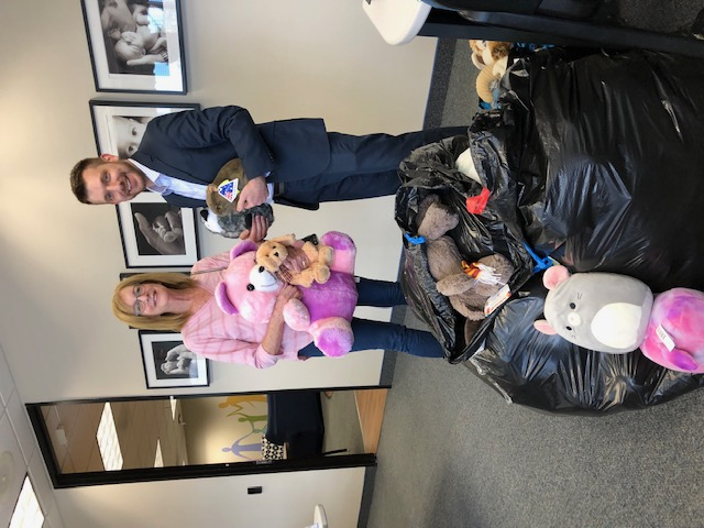 Stuffed animals for Montgomery County Child Justice Center