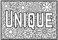 Unique coloring page
