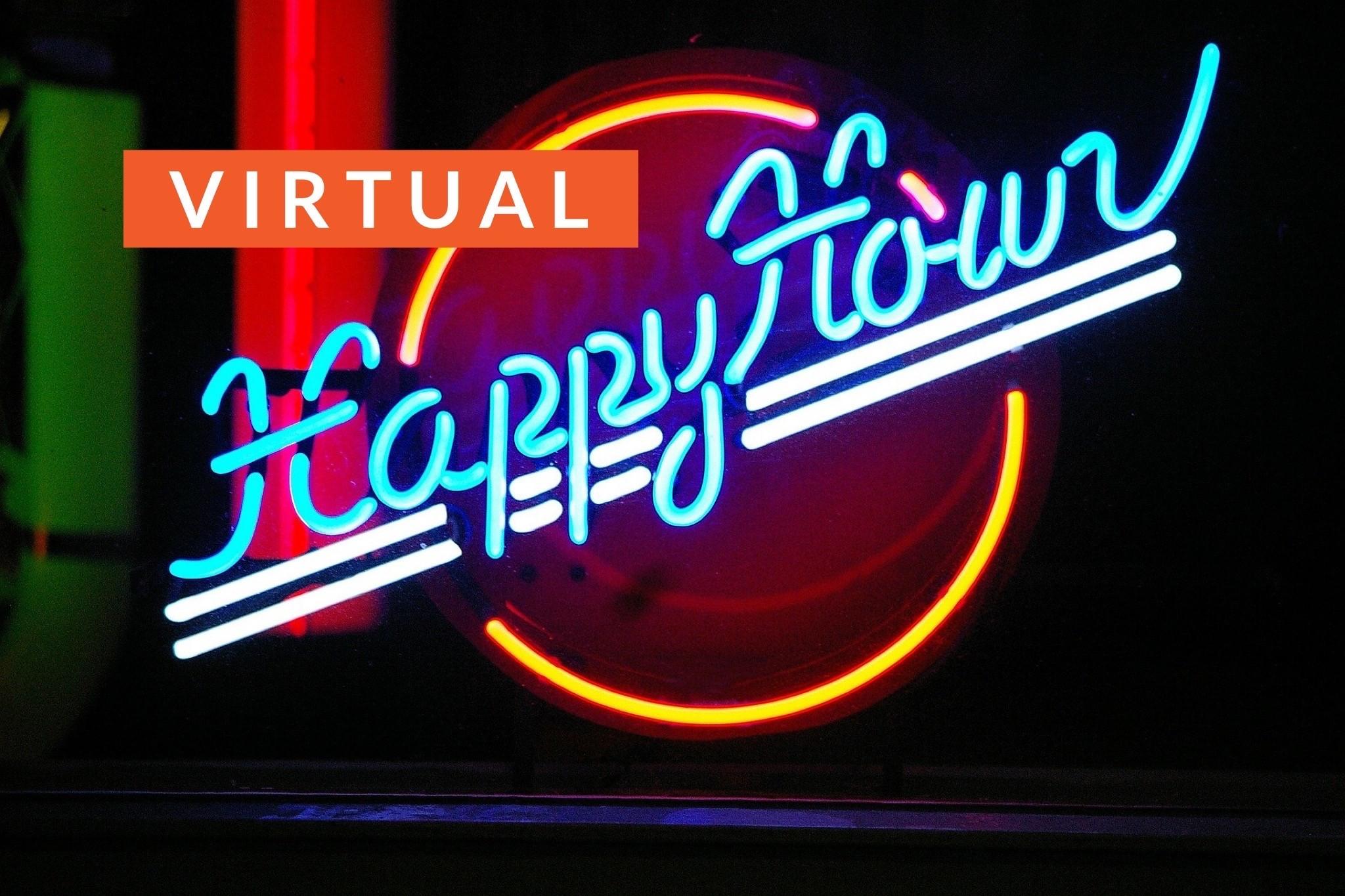 Virtual Happy HourWednesdays, 4/1, 4/22, 4/29(5pm)