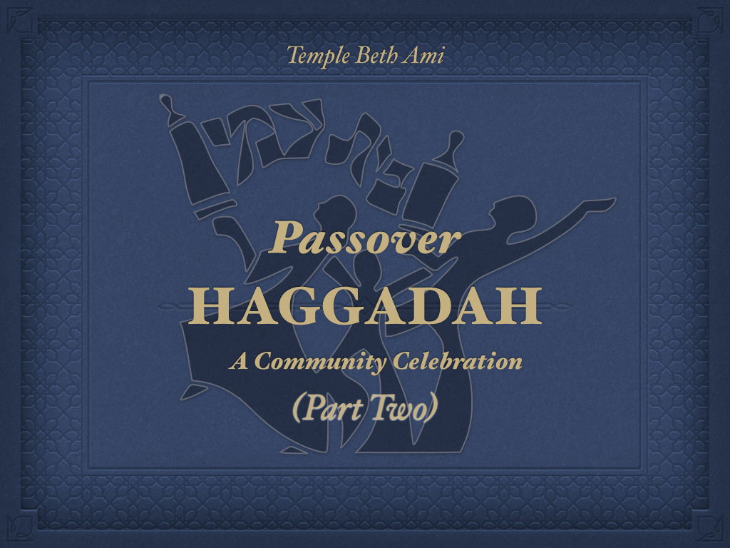 Click the Haggadah for the rest of the seder
