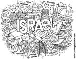 Israel coloring page jpg