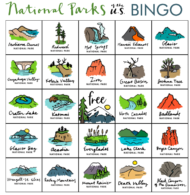 National parks bingo image