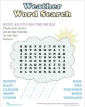 Rainbow word search image