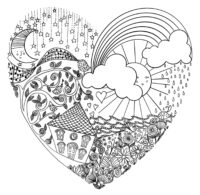 Week 6 Heart Coloring page