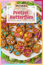 chocolate butterfly pretzel image