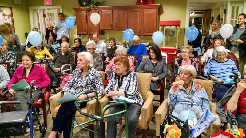 Chanukah party at Brightview Assisted Living facility 2019