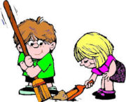 Children Cleaning Up