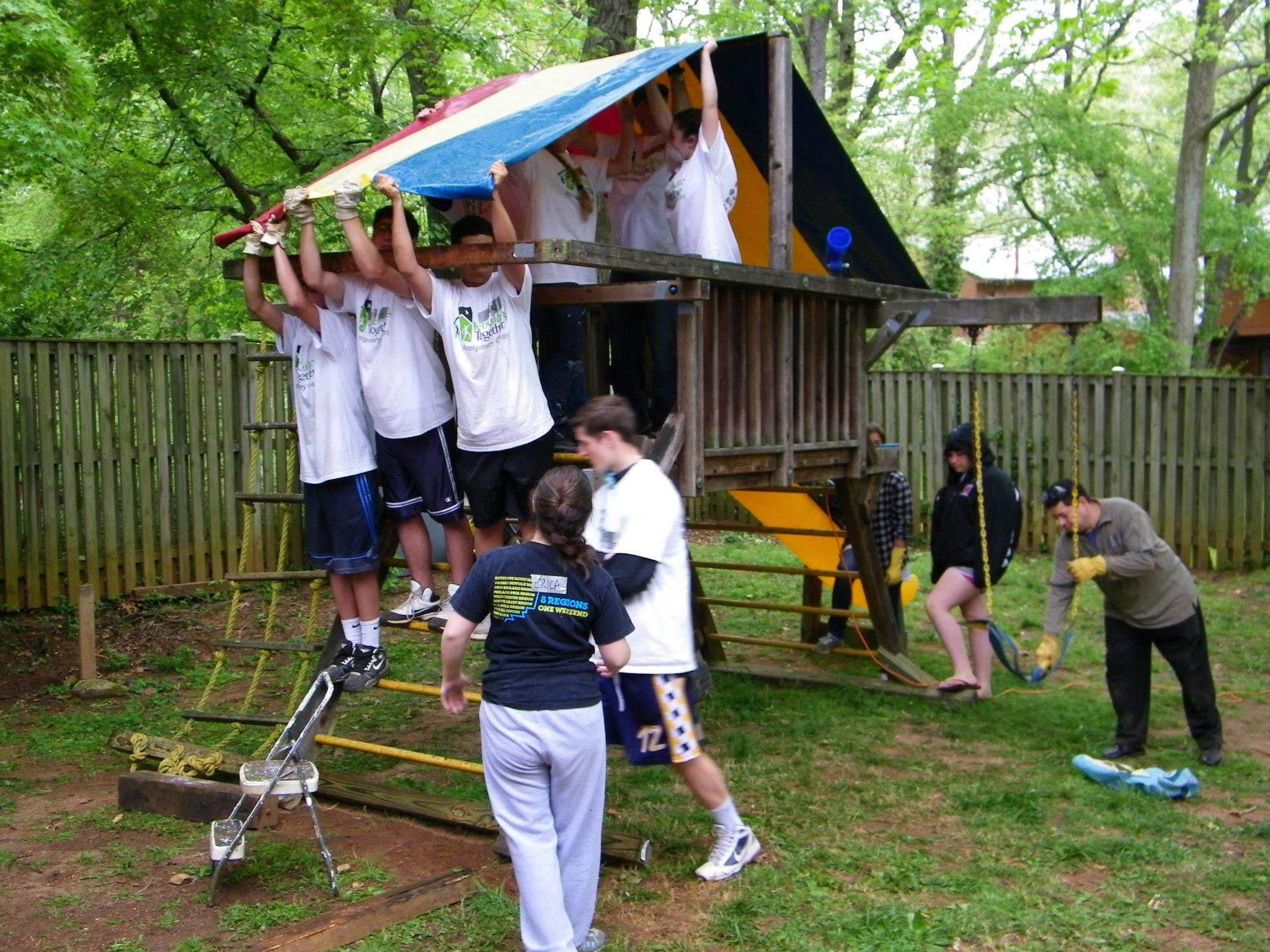 Rebuilding Together - Volunteers Reassembling Play House 2019