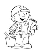 bob builder coloring page
