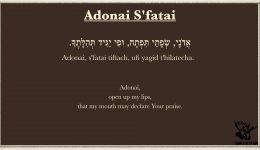 Adonai S'fatai