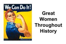 Great women throughout history screen shot