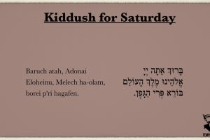Kiddush for Saturday Morning