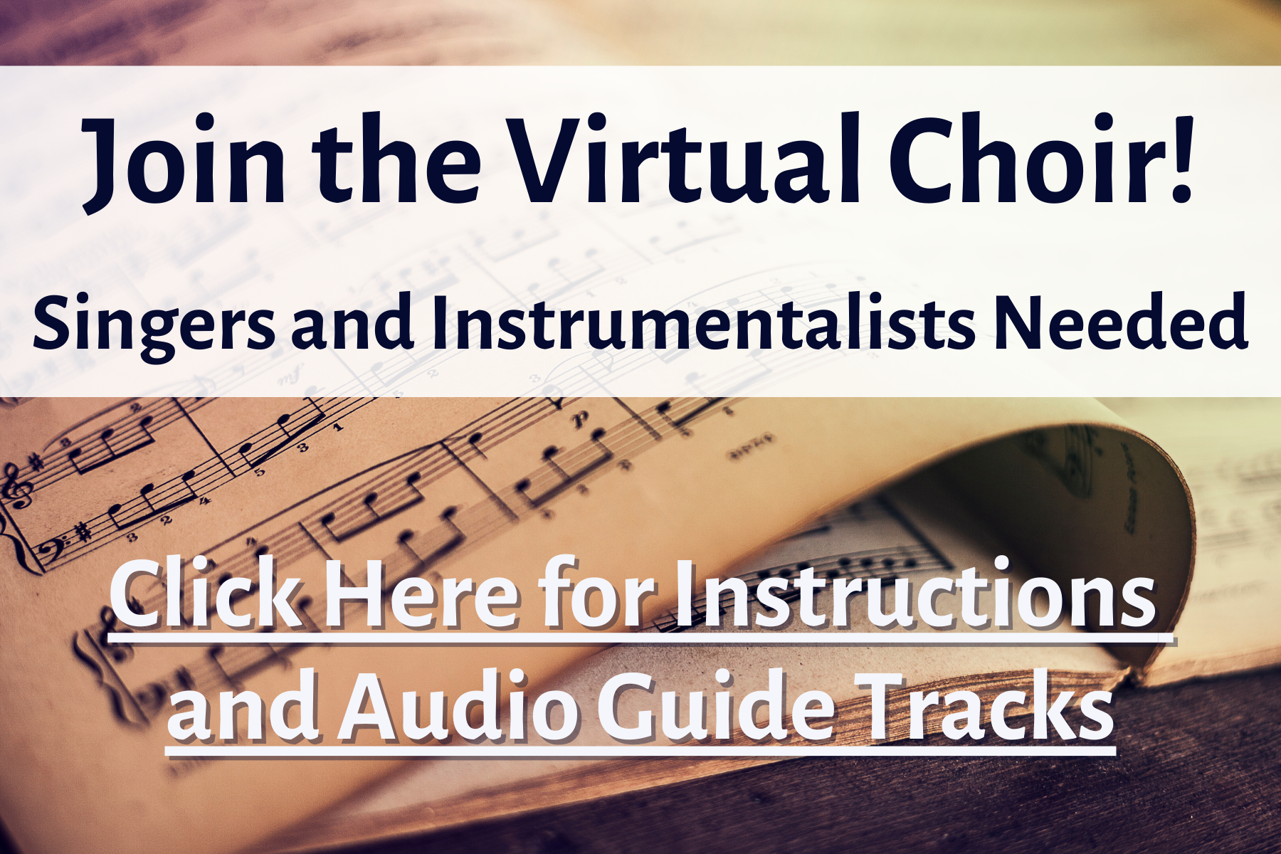 Join the Virtual Choir! Singers and Instrumentalists Needed